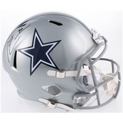 Demarcus Lawrence Signed Dallas Cowboys Full-Size Speed Helmet (Beckett COA)