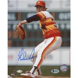 Nolan Ryan Signed Houston Astros 8x10 Photo (Beckett COA  Ryan Hologram)