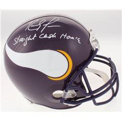 """Randy Moss Signed Minnesota Vikings Full-Size Helmet Inscribed """"Straight Cash Homie"""" (JSA COA)"""