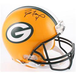 Brett Favre  LeRoy Bulter Signed Green Bay Packers Full-Size Helmet (Radtke COA  Favre COA)