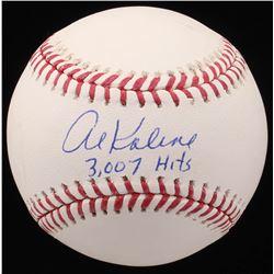 "Al Kaline Signed OML Baseball Inscribed ""3,007 Hits"" (JSA COA)"