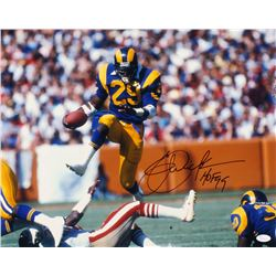 "Eric Dickerson Signed Los Angeles Rams 16x20 Photo Inscribed ""HOF 99"" (JSA COA)"