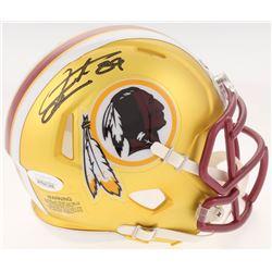 Santana Moss Signed Washington Redskins Blaze Speed Mini-Helmet (JSA COA)