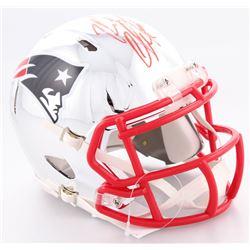 Rob Gronkowski Signed New England Patriots Chrome Speed Mini-Helmet (Beckett COA)