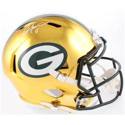 Brett Favre Signed LE Green Bay Packers Full-Size Chrome Speed Helmet (Radkte COA)