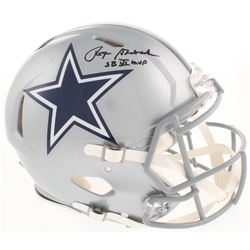 """Roger Staubach Signed Dallas Cowboys Full-Size Authentic On-Field Speed Helmet Inscribed """"SB VI MVP"""""""