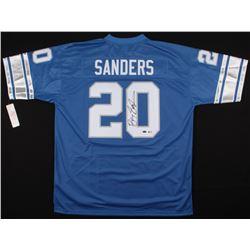Barry Sanders Signed Detroit Lions Jersey (Beckett COA  Schwartz Hologram)