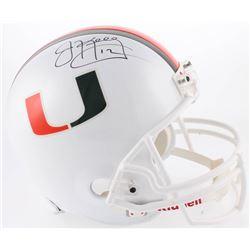Jim Kelly Signed Miami Hurricanes Full-Size Helmet (Radtke COA)