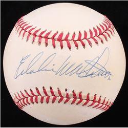 Eddie Mathews Signed ONL Baseball (JSA COA)