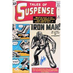 "Stan Lee Signed ""Iron Man"" 12x18 Photo (PSA COA)"
