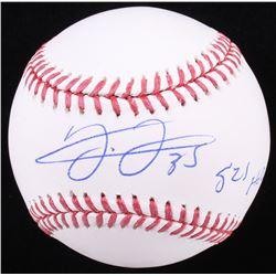 """Frank Thomas Signed OML Baseball Inscribed """"521 HRS"""" (Schwartz COA)"""