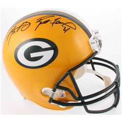 Brett Favre  Aaron Rodgers Signed Green Bay Packers Full-Size Helmet (Fanatics Hologram  Favre COA)