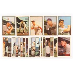 Lot of (25) 1953 Bowman Color Baseball Cards with #45 Walt Dropo, #125 Fred Hatfield, #138 Bubba Chu