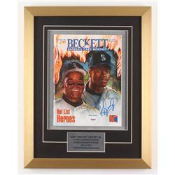 Ken Griffey Jr. Signed 15x19 Custom Framed Magazine Display (PSA COA)