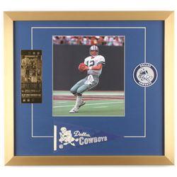 Roger Staubach Dallas Cowboys 19x21 Custom Framed Photo Display
