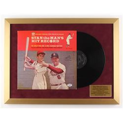 Stan Musial Signed 18x24 Custom Framed Vinyl Record Cover Display (PSA COA)