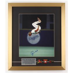 Ozzie Smith Signed St. Louis Cardinals 17x20 Custom Framed Photo with Pins (JSA ALOA)