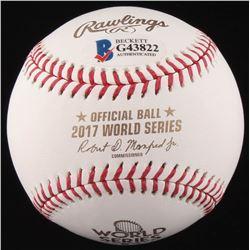 George Springer Signed 2017 World Series Baseball (Beckett COA)