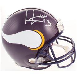 """Cris Carter Signed Minnesota Vikings Full-Size Authentic On-Field Helmet Inscribed """"HOF 13"""" (JSA COA"""