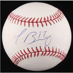Javier Baez Signed OML Baseball (JSA COA)