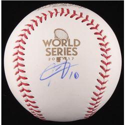 Yulieski Gurriel Signed 2017 World Series Logo Baseball (Beckett COA)
