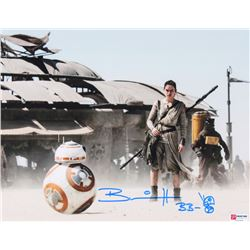 "Brian Herring Signed ""Star Wars"" 11x14 Photo Inscribed ""BB-8"" with Hand-Drawn BB-8 Sketch (PA COA)"