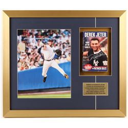 Derek Jeter Signed 18x21 Custom Framed Book Display (Steiner Hologram)