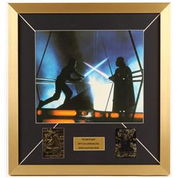 """Star Wars: A new Hope"" 19x20 Custom Framed Photo Display with 23 KT Gold Cards"