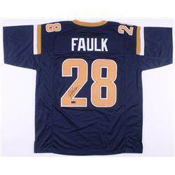 Marshall Faulk Signed St. Louis Rams Jersey (Radtke COA)