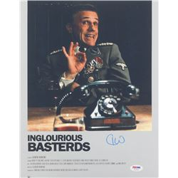 "Christoph Waltz Signed ""Inglourious Basterds"" 11x14 Photo (PSA COA)"
