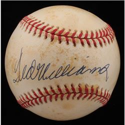 Ted Williams Signed OAL Baseball (UDA Hologram)