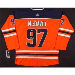 Connor McDavid Signed Edmonton Oilers Captain's Jersey (PSA COA)