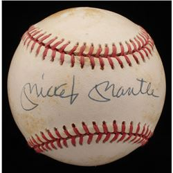 Mickey Mantle Signed OAL Baseball (UDA Hologram)