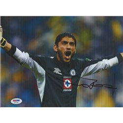 Jesus Manuel Corona Signed Cruz Azul 8x10 Photo (PSA COA)