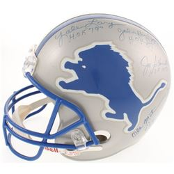 Detroit Lions Hall Of Famers Helmet Signed by (5) with Joe Schmidt, Ollie Matson, Lou Creekmur, John