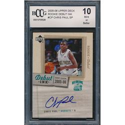 2005-06 Upper Deck Rookie Debut Ink #CP Chris Paul (BCCG 10)