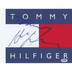 Tommy Hilfiger Signed 8x10 Photo (PSA COA)