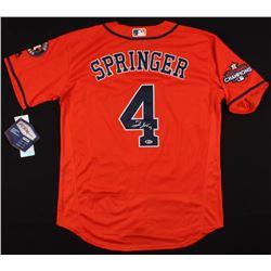 George Springer Signed Houston Astros World Series Jersey (Beckett COA)