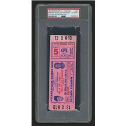 Authentic Rocky Marciano 1953 Ticket (PSA Encapsulated)