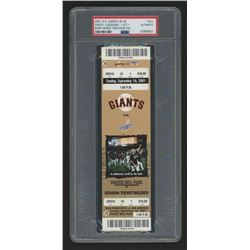 Authentic 2001 San Francisco Giants Ticket Stub (PSA Encapsulated)