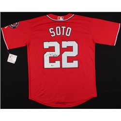 Juan Soto Signed Washington Nationals Jersey (Beckett COA)