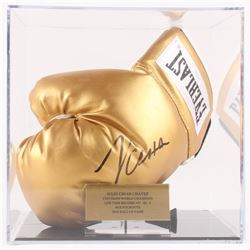Julio Cesar Chavez Signed Everlast Boxing Glove with Display Case (JSA COA)