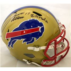 "Josh Allen Signed Buffalo Bills Full-Size Speed Helmet Inscribed ""Bills Mafia"" (Beckett COA)"