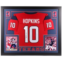 DeAndre Hopkins Signed Houston Texans 35x43 Custom Framed Jersey (JSA Hologram)
