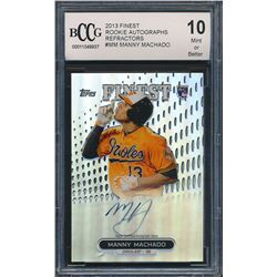 2013 Finest Rookie Autographs Refractors #MM Manny Machado (BCCG 10)