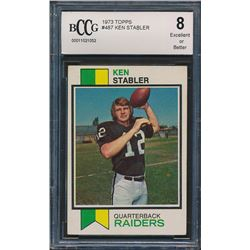 1973 Topps #487 Ken Stabler RC (BCCG 8)