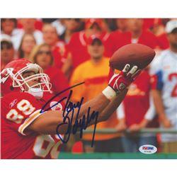 Tony Gonzalez SIgned Kansas City Chiefs 8x10 Photo (PSA COA)