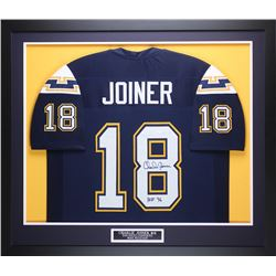 "Charlie Joiner Signed Chargers 35"" x 43"" Custom Framed Jersey (JSA COA)"