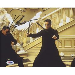 "Keanu Reeves Signed ""The Matrix"" 8x10 Photo (PSA COA)"