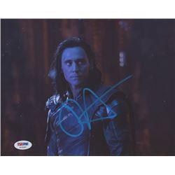 "Tom Hiddleston Signed ""Avengers: Infinity War"" 8x10 Photo (PSA COA)"